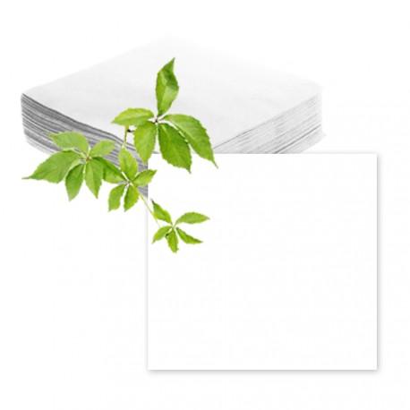 Serviettes papier blanches