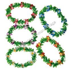 5 colliers hawai feuilles et fleurs