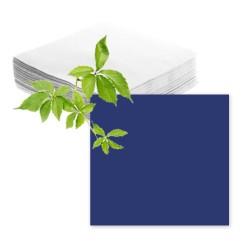 Serviettes papier bleu marine