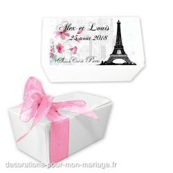 Boite pour dragées thème Paris