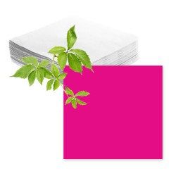 Serviettes papier rose fuchsia