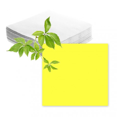 Serviettes papier jaune