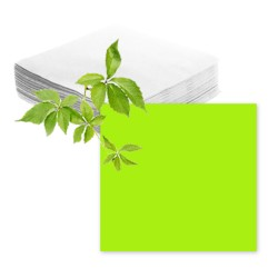 Serviettes papier vert anis