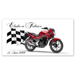 Faire-part moto rouge