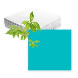 Serviettes papier turquoise
