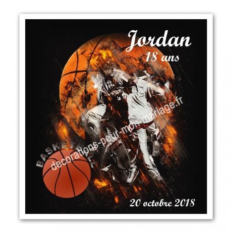 Invitation anniversaire basket