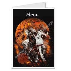 menu motif basket