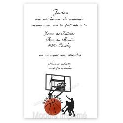 Invitation au repas basket imprimé