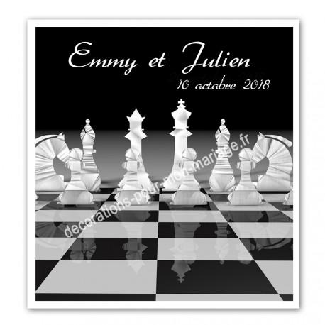 Faire-part sur les échecs
