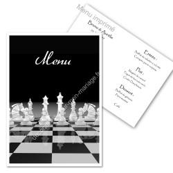 Menu sur les échecs