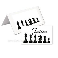 24 marque-place échecs noirs