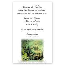 Invitation mariage contes et légendes