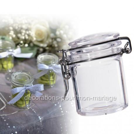 Petit pot de verre à dragées