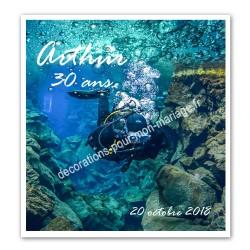 Faire-part thème plongée sous marine