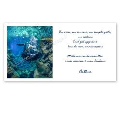 remerciement thème plongée sous-marine