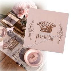 20 serviettes princesse