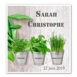 Faire-part thème plantes et aromates