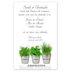 Invitation thème plantes et aromates