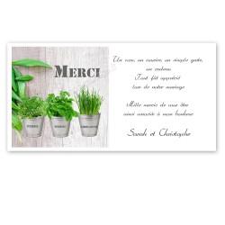 remerciement thème plantes et aromates