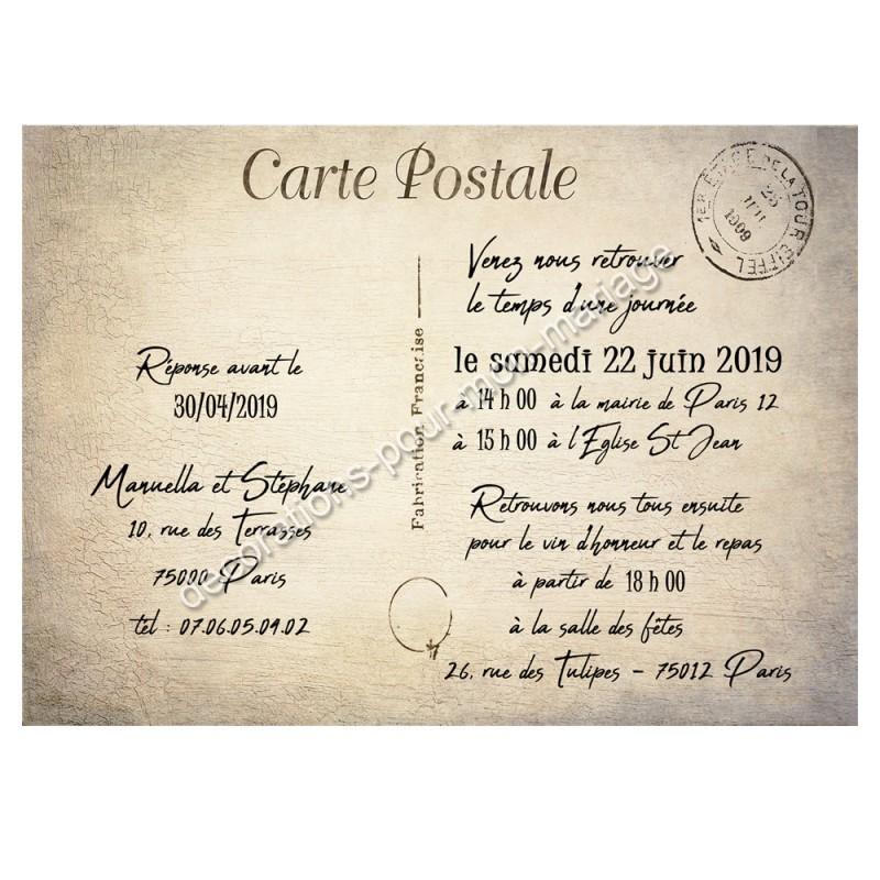 Faire-part carte postale