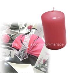 Bougie cylindre moyenne rose