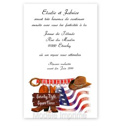 Invitation repas thème country