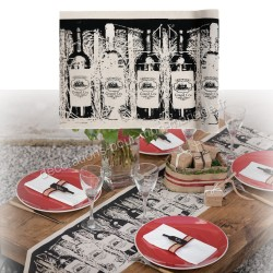 Chemin de table thème vin