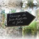 Pancartes flèche mariage