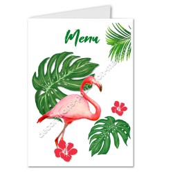 Menu flamant rose