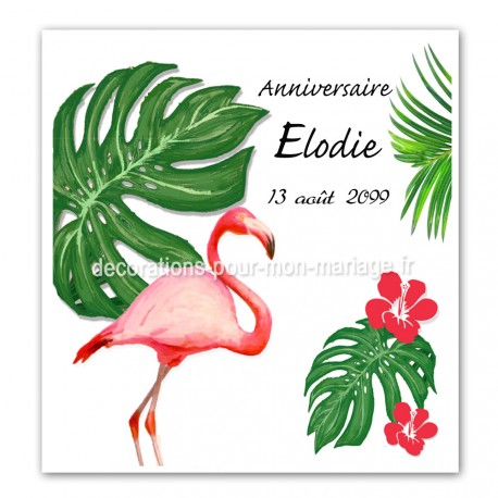 Faire-part flamant rose