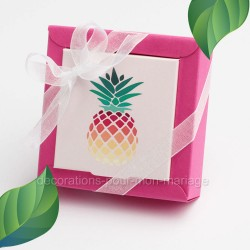 Cadeau invité dragées ananas
