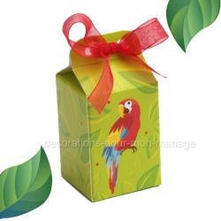 Contenant dragées perroquet