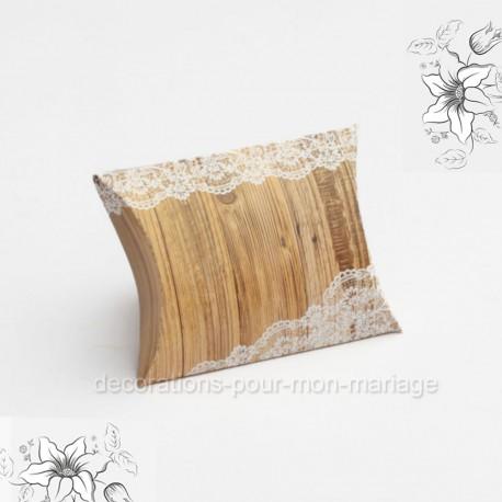 Oreiller dragées bois