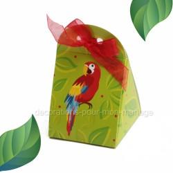 Pochette dragées perroquet