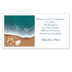 Remerciement mer vague avec impression