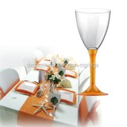 Verre à vin jetable mandarine