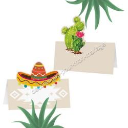 6 marque-place mexique