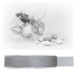 Ruban organdi gris