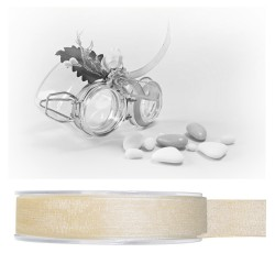 Ruban organdi ivoire