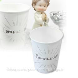 6 gobelets communion argent