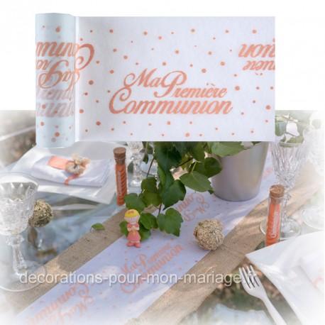 Chemin De Table 1ere Communion Corail