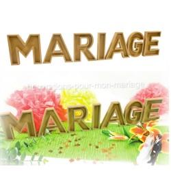 Set lettres mariage naturel