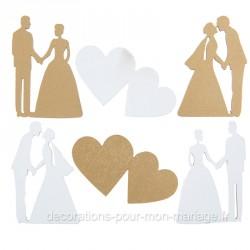 Décorations 18 pièces mariage