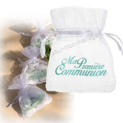 Sachet dragées communion en jade