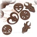 8 Confettis masque africain