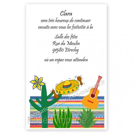 Invitation repas sur le mexique