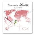 Faire-part communion corail