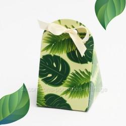 Pochette dragées fleurs tropicales