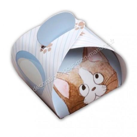 Boîte dragées petit chat