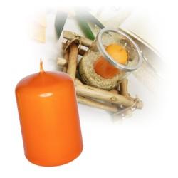 Bougie cylindre moyenne orange